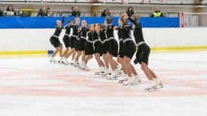Young synchronized skaters
